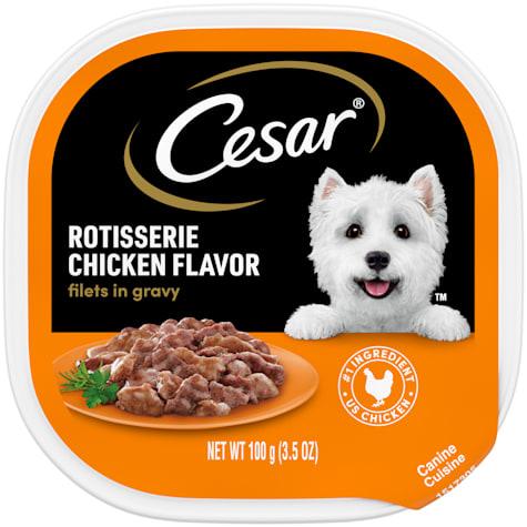 Cesar Filets in Gravy Rotisserie Chicken Flavor Wet Dog Food