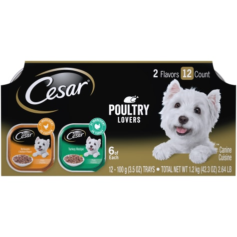 Cesar Filets in Gravy Poultry Lovers Variety Pack Wet Dog Food