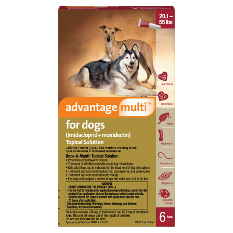 Advantage Multi Topical Solution for Dogs 55.1 to 88 lbs.
