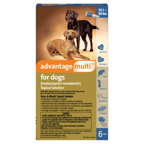 Advantage Multi Topical Solution for Dogs 20.1 to 55 lbs.