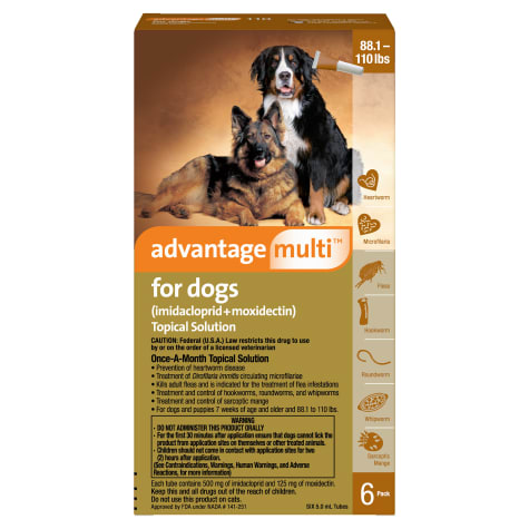 Advantage Multi Topical Solution for Dogs 88.1 to 110 lbs.