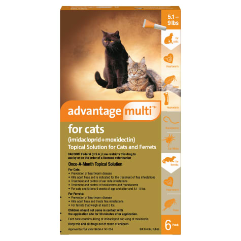 Advantage Multi Topical Solution for Cats 5.1 to 9 lbs.