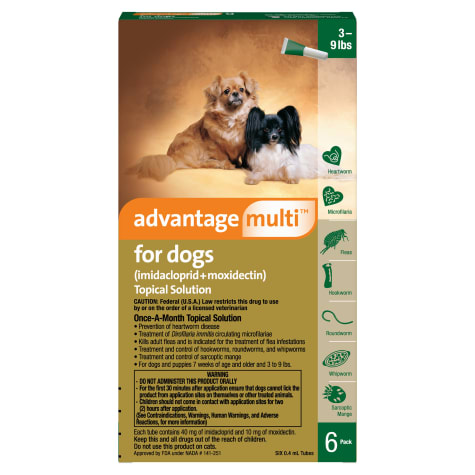 Advantage Multi Topical Solution for Dogs 3 to 9 lbs.