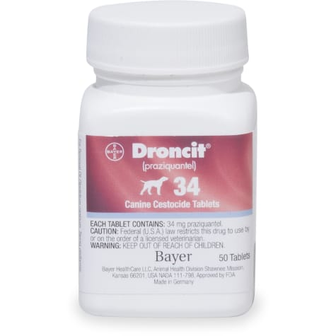 Droncit 34 mg Tablets for Dogs