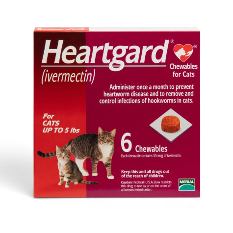 Heartgard Chewables for Cats 1 to 5 lbs.