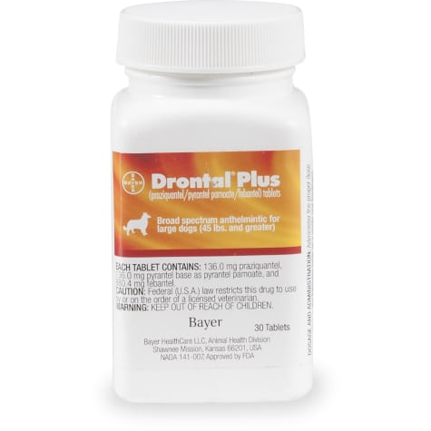 Drontal Plus Tablets for Large Dogs