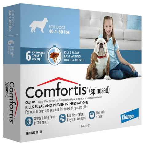 Comfortis Chewable Tablets for Dogs 40.1 to 60 lbs.