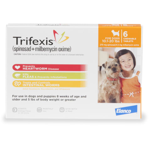 Trifexis Chewable Tablets for Dogs 10.1 to 20 lbs.
