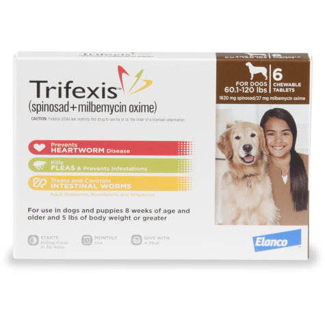 Trifexis Chewable Tablets for Dogs 60.1 to 120 lbs.