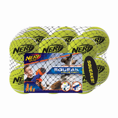 Nerf Squeak Tennis Ball Dog Toy