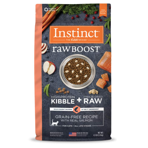 Instinct Raw Boost Grain-Free Recipe with Real Salmon Dry Cat Food with Freeze-Dried Raw Pieces