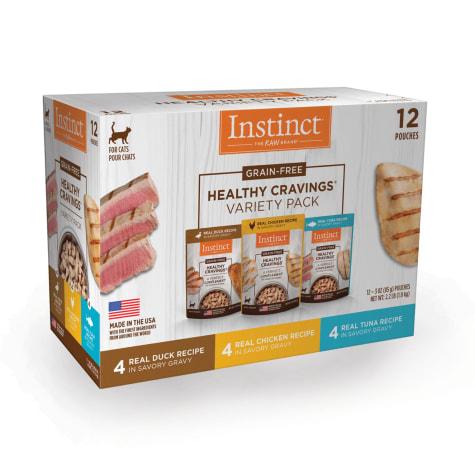 Instinct Healthy Cravings Grain-Free Cuts & Gravy Recipe in Savory Gravy Variety Pack Wet Cat Food