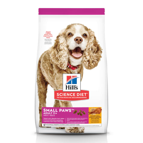 Hill's Science Diet Adult 11+ Small Paws Chicken Meal, Barley & Brown Rice Recipe Dry Dog Food
