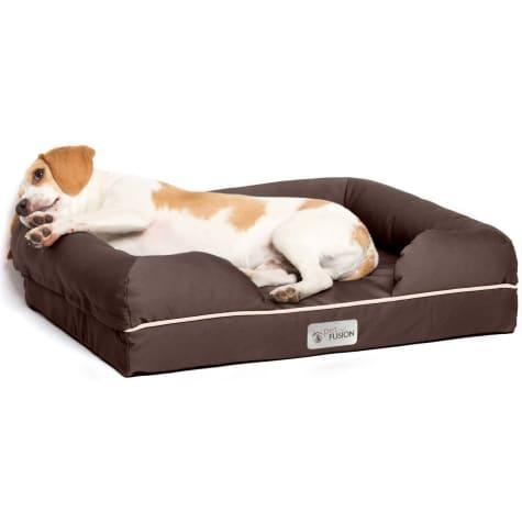 PetFusion Ultimate Orthopedic Memory Foam Brown Dog Bed & Lounge