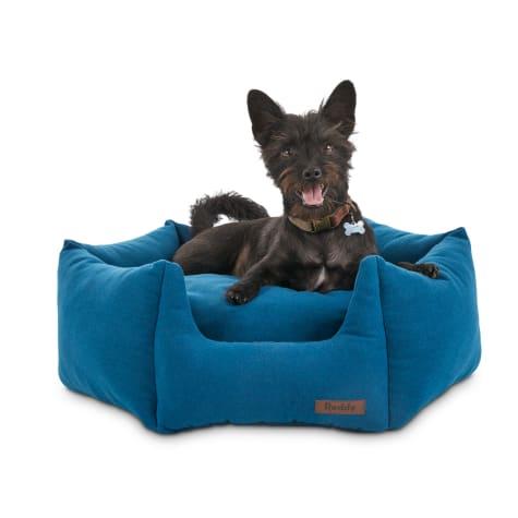 Reddy Elite Blue Orthopedic Hexagon Dog Bed