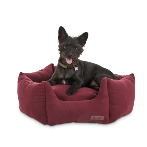 Reddy Elite Burgundy Orthopedic Hexagon Dog Bed