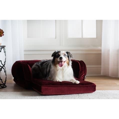 La-Z-Boy Duchess Fold Out Merlot Sofa Dog Bed