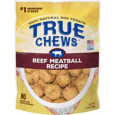 True Chews Beef Meatball Recipe Dog Treats