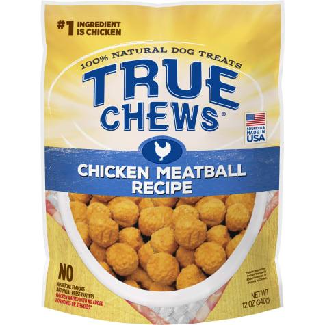 True Chews Chicken Meatball Recipe Dog Treats