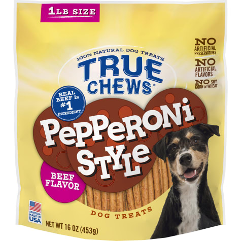 True Chews Pepperoni Style Beef Flavor Dog Treats