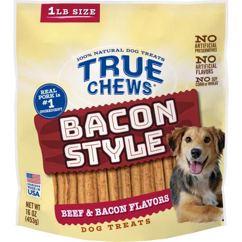 True Chews Bacon Style Beef & Bacon Flavors Dog Treats
