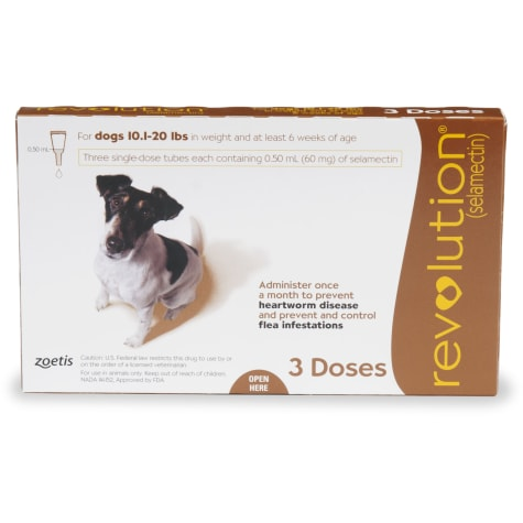 Revolution Topical Solution for Dogs 10.1-20 lbs. - Brown