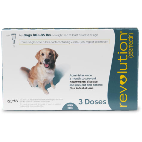 Revolution Topical Solution for Dogs 40.1- 85 lbs. - Teal