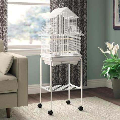 YML Pagoda White Top Bird Cage