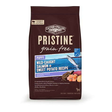 Castor & Pollux Pristine Grain Free Puppy Wild-Caught Salmon & Sweet Potato Dry Food