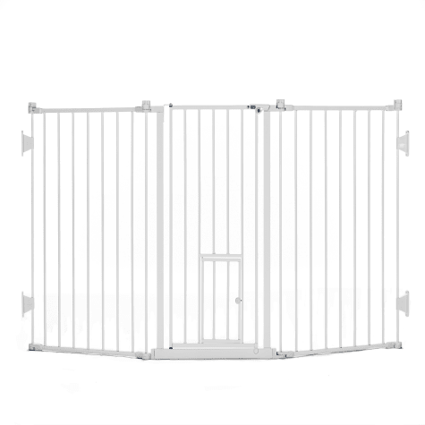 Carlson Pet Products Flexi Gate with Pet Door