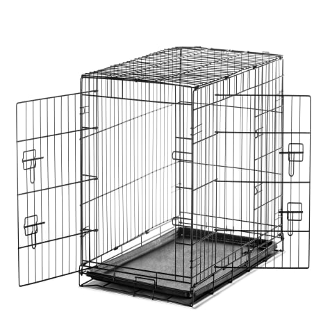 Carlson Pet Products Intermediate Two Door Wire Crate with Divider