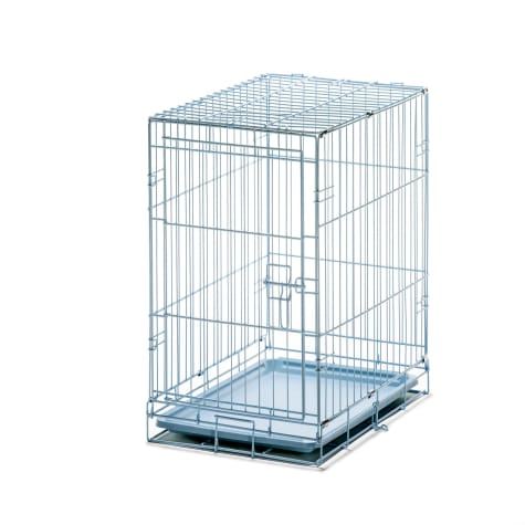 Carlson Pet Products Small Blue Single Door Wire Crate