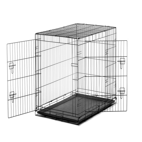 Carlson Pet Products Large Two Door Wire Crate with Divider