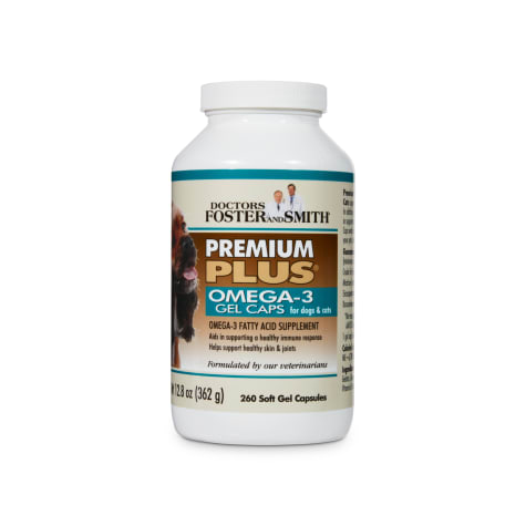 Drs. Foster and Smith Premium Plus Omega-3 Supplement for Dogs and Cats