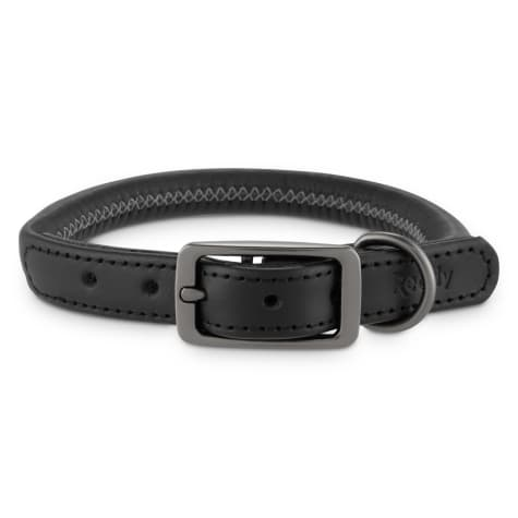 Reddy Black Leather Dog Collar