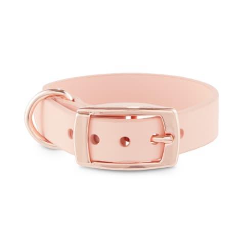 Bond & Co. Blush Pink Pleather Dog Collar