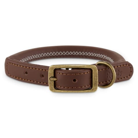 Reddy Brown Leather Dog Collar