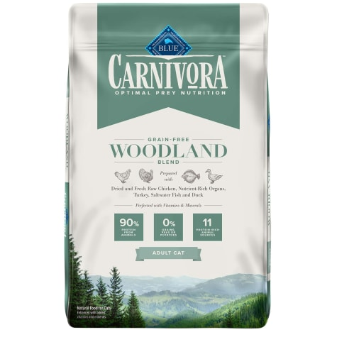 Blue Buffalo Blue Carnivora Woodland Blend Optimal Prey Nutrition High Protein, Grain Free Natural Adult Dry Cat Food