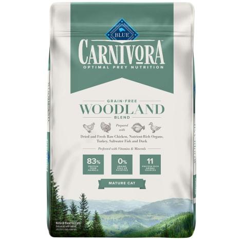 Blue Buffalo Blue Carnivora Woodland Blend Optimal Prey Nutrition High Protein, Grain Free Natural Mature Dry Cat Food
