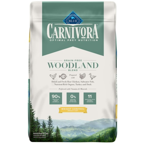 Blue Buffalo Blue Carnivora Woodland Blend Optimal Prey Nutrition Grain Free Adult Weight Control Dry Cat Food