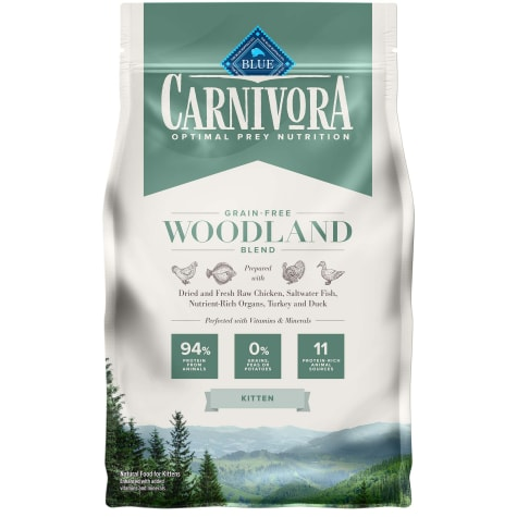 Blue Buffalo Blue Carnivora Woodland Blend Optimal Prey Nutrition High Protein, Grain Free Natural Kitten Dry Food