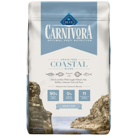 Blue Buffalo Blue Carnivora Coastal Blend Optimal Prey Nutrition High Protein, Grain Free Natural Adult Dry Cat Food