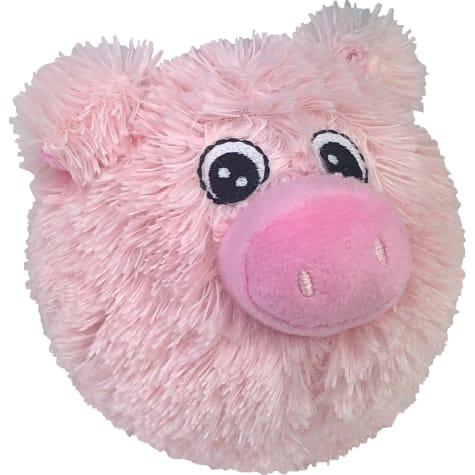 Petlou EZ Squeaky Pig Ball Plush Dog Toy