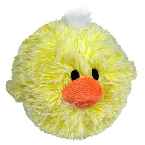 Petlou EZ Squeaky Chick Ball Plush Dog Toy