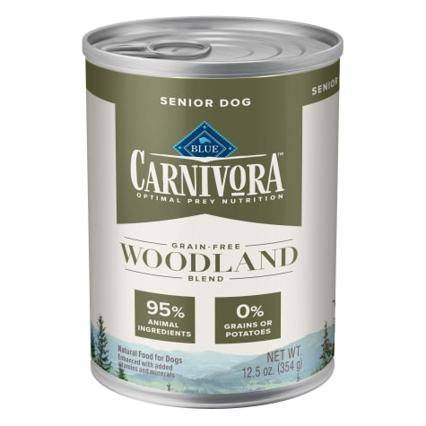 Blue Buffalo Blue Carnivora Woodland Blend Optimal Prey Nutrition Grain Free Senior Wet Dog Food