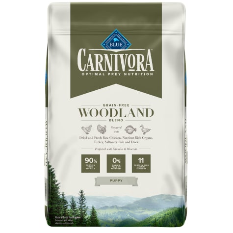 Blue Buffalo Blue Carnivora Woodland Blend Optimal Prey Nutrition High Protein, Grain Free Natural Puppy Dry Food