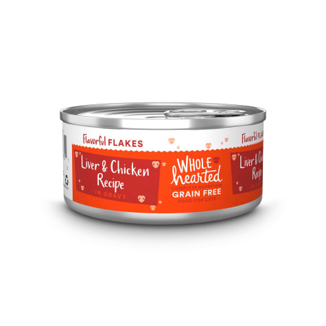 WholeHearted Grain-Free Chicken & Liver Recipe Flakes in Gravy Wet Cat Food