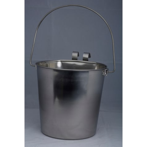 Indipets Stainless Steel Heavy Duty Flat-Sided Pail