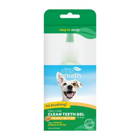 TropiClean Fresh Breath Clean Teeth Oral Care Peanut Butter Gel for Dogs