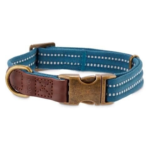 Reddy Slate Blue Webbed Nylon Dog Collar